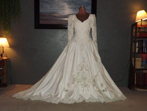 vintage 1990s wedding gown by bonny stunning beadwork