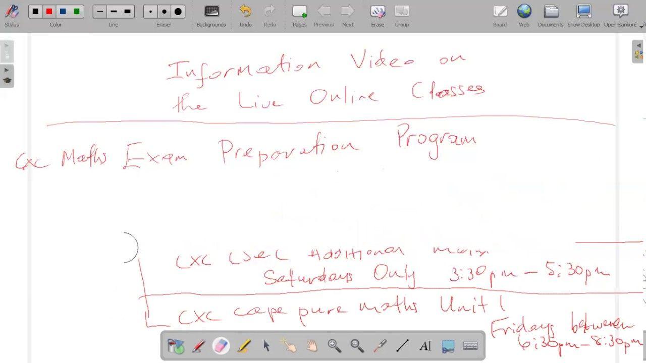 CXC Maths Exam Prep. Program Live Online Classes | Cxcmathtutor ...