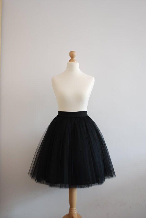 Black swan ladies tulle skirt / adult tutu by WardrobeByDulcinea, $99.00