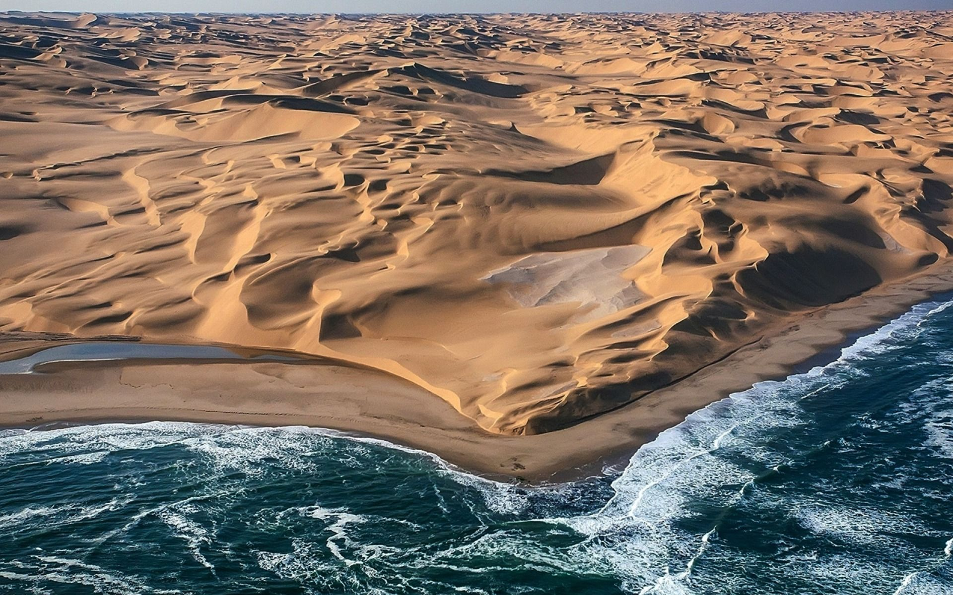 Namib Desert Meets The Atlantic Ocean Namib Desert Ocean Namibia