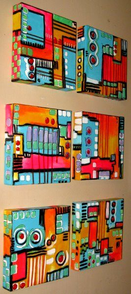 piazza boxes. Each students has to incorporate the same shapes/colors/etc...