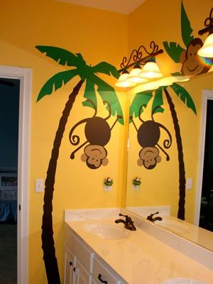 Cool and Funny Monkey Wall Decals for Nursery | Room wall decor ...