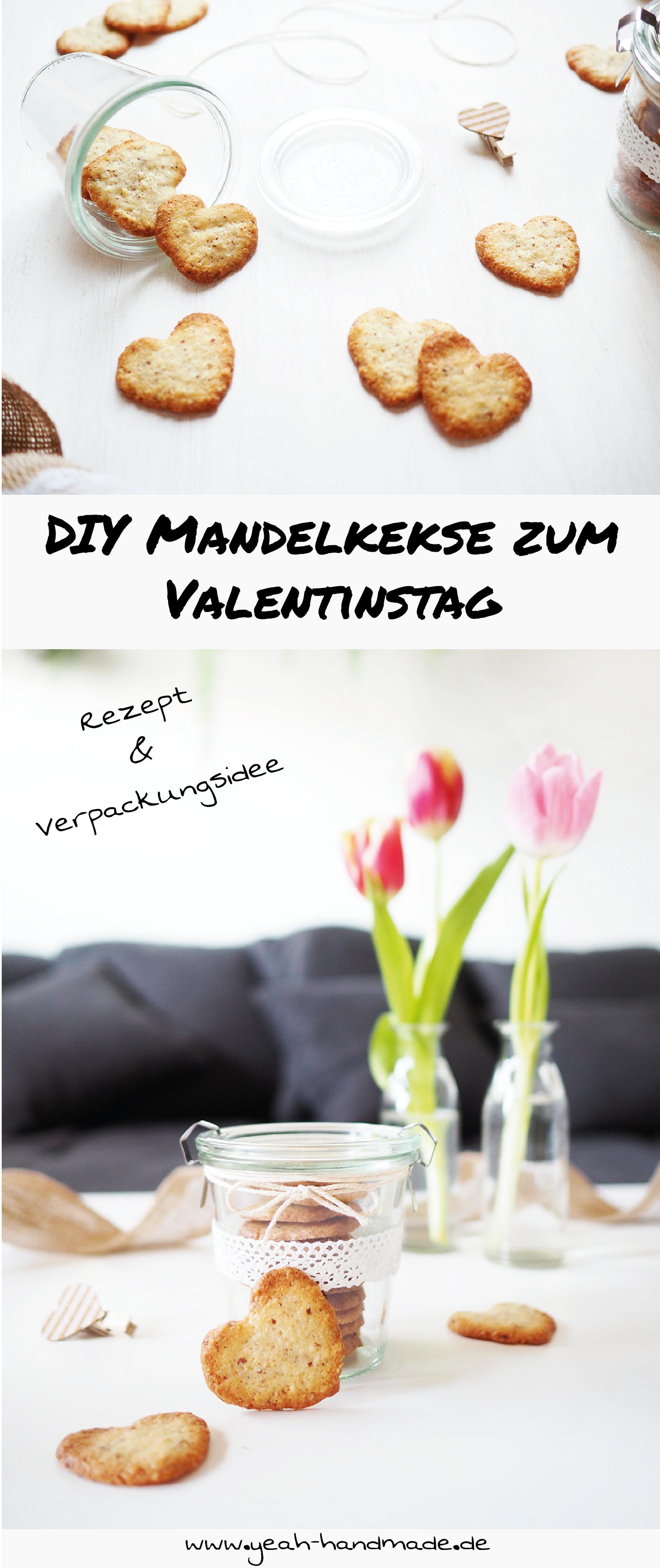 DIY Herförmige Mandelkekse zum Valentinstag