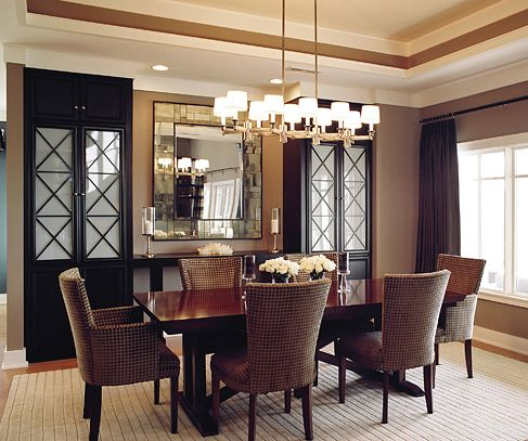 Mirrors In Dining Room  Google Search  For The Home  Pinterest Extraordinary Decorative Mirrors Dining Room Design Ideas