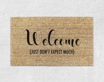 Go Away Doormat Funny Door Mat Welcome Rug Front Housewarming Gift Sign 003