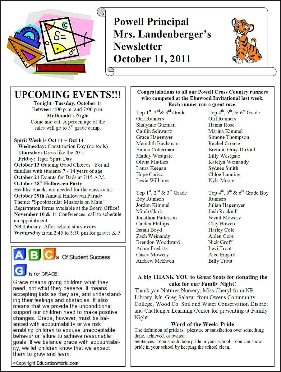 665c081d7f3dfd73a4b2dd200239169e  St Grade Newsletter Template on examples for, sample monthly, templates for,