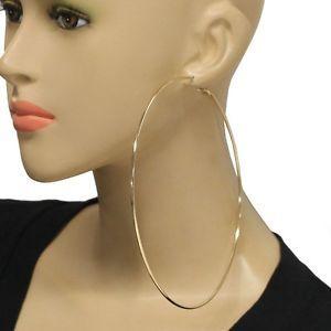 bcb3635a5 14cm extra large gold hoop earrings in 2019 | Earrings | Hoop ...