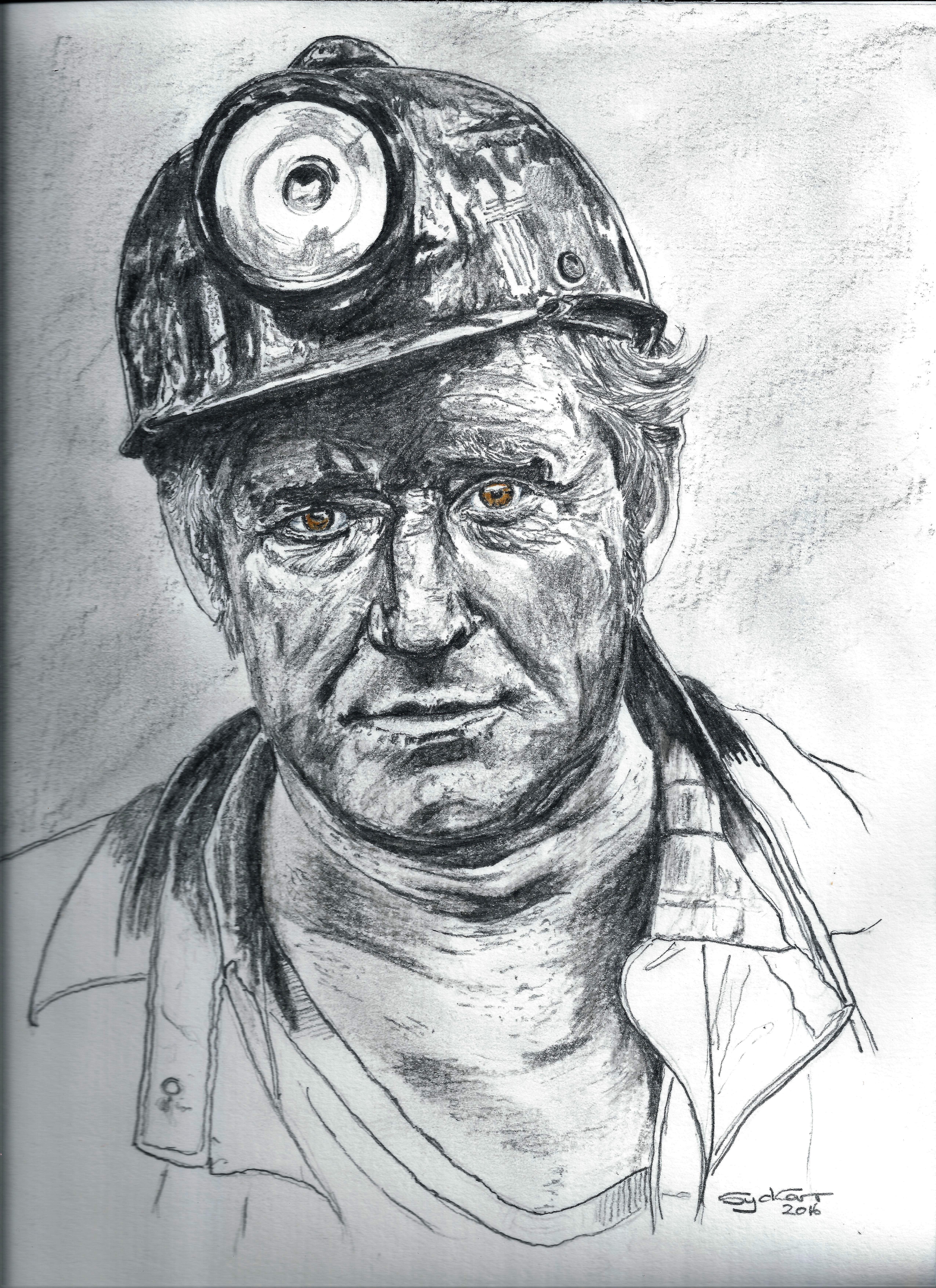 Дикими, день шахтера рисунок детей