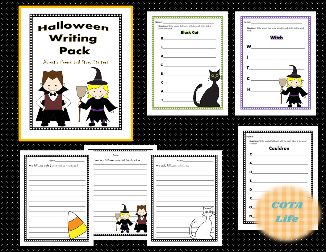 Halloween Writing Pack Acrostic Poems And Story Starters