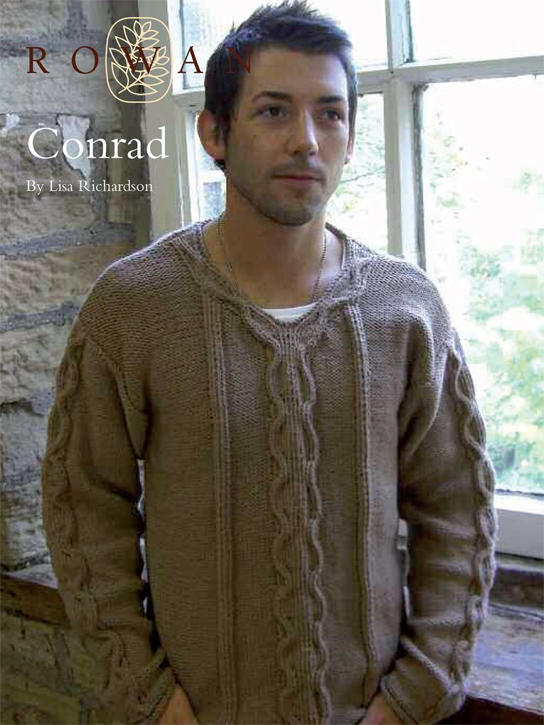 Conrad - casual mens cable sweater in cotton - Lisa Richardson for ...