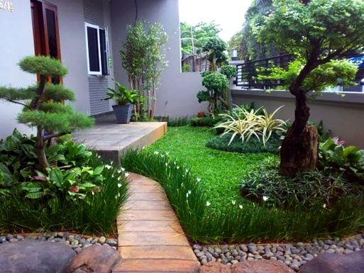 Taman Depan Rumah Minimalis Garden Rooftop Garden Courtyard In