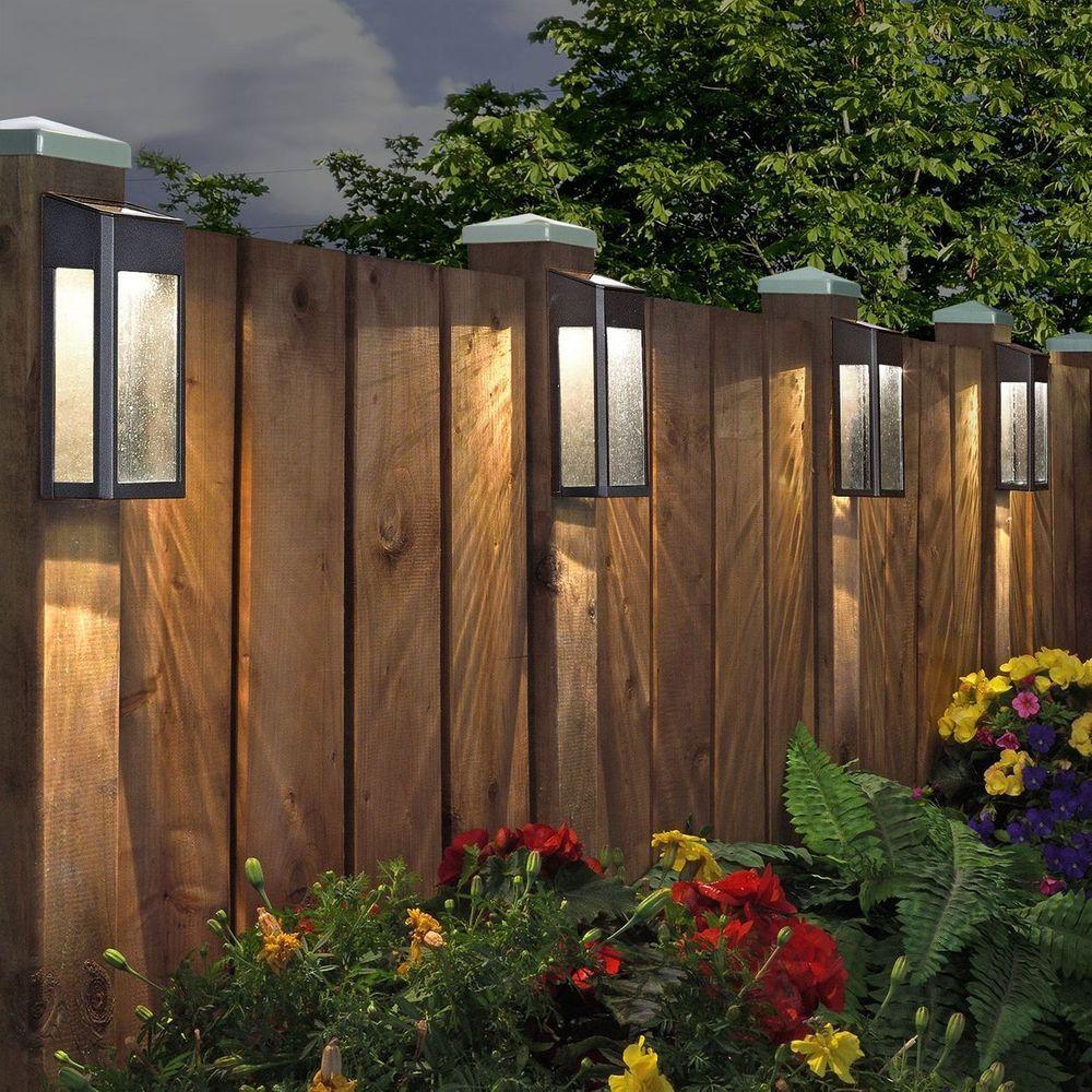 Paradise Solar Led Accent Lights Costco: Paradise Solar LED Post Light Set, 4-pack In 2019