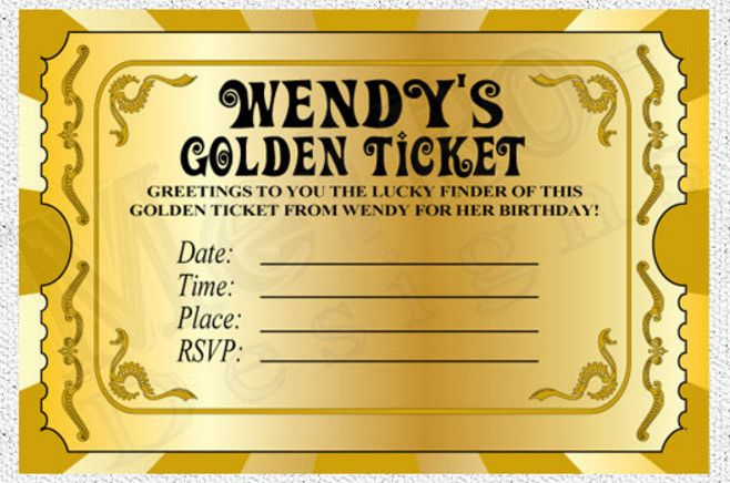 willy wonka golden ticket party invitations Charlie and chocolate