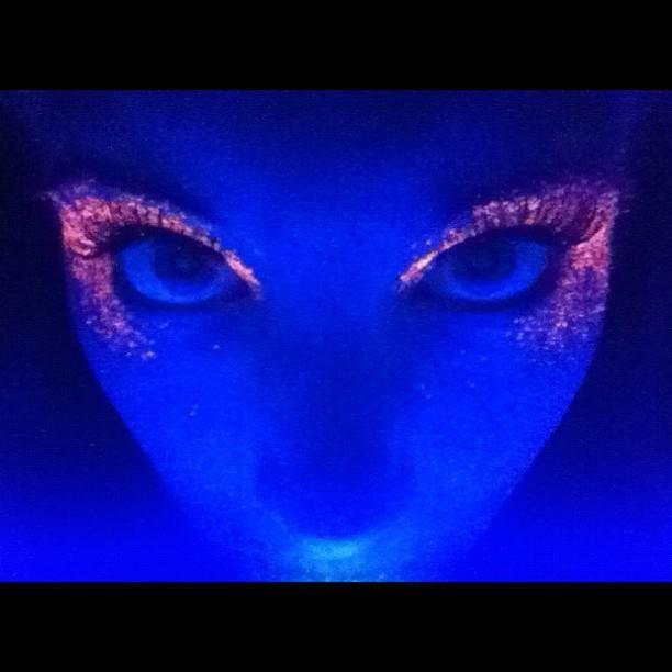 Black light makeup by Lancome | Dazzling Beauty | Black ...