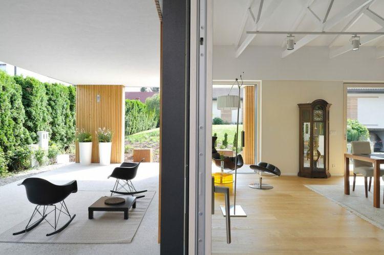 haus fassade aus holz veranda wohnzimmer Traumhäuser Pinterest - wohnzimmer bilder modern