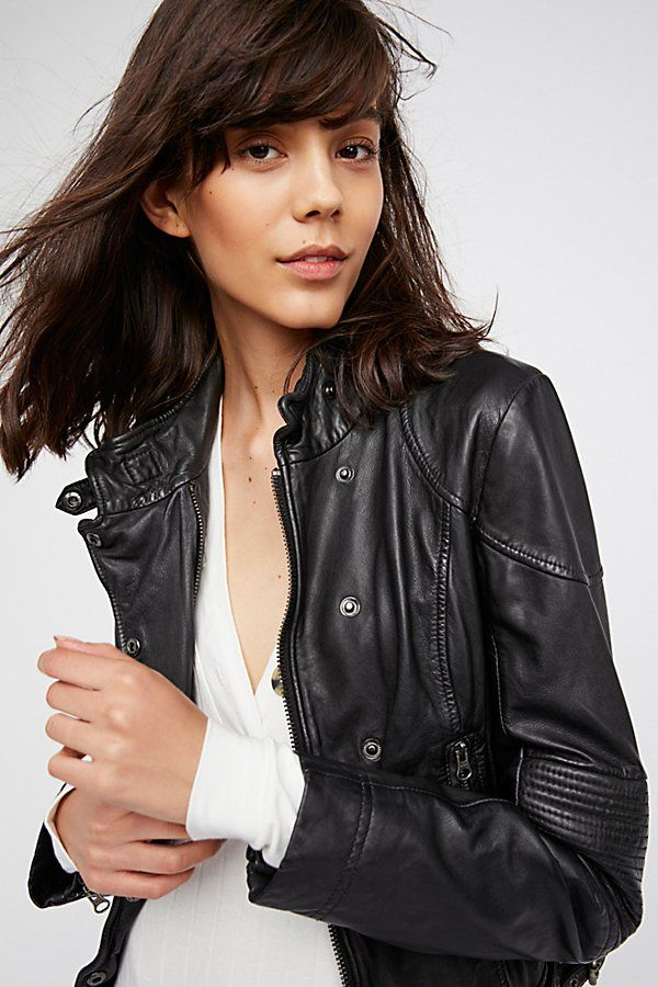 Slide View 1 Fitted And Rugged Leather Jacket Rugged Leather Leather Jacket Leather