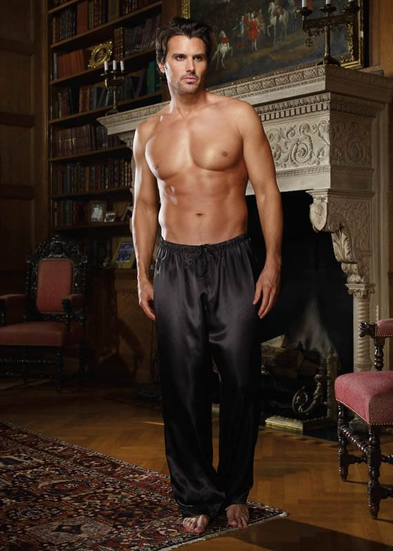 Silk men nightwear pajamas--Black pajamas #Silk #pajamas | Mens ...