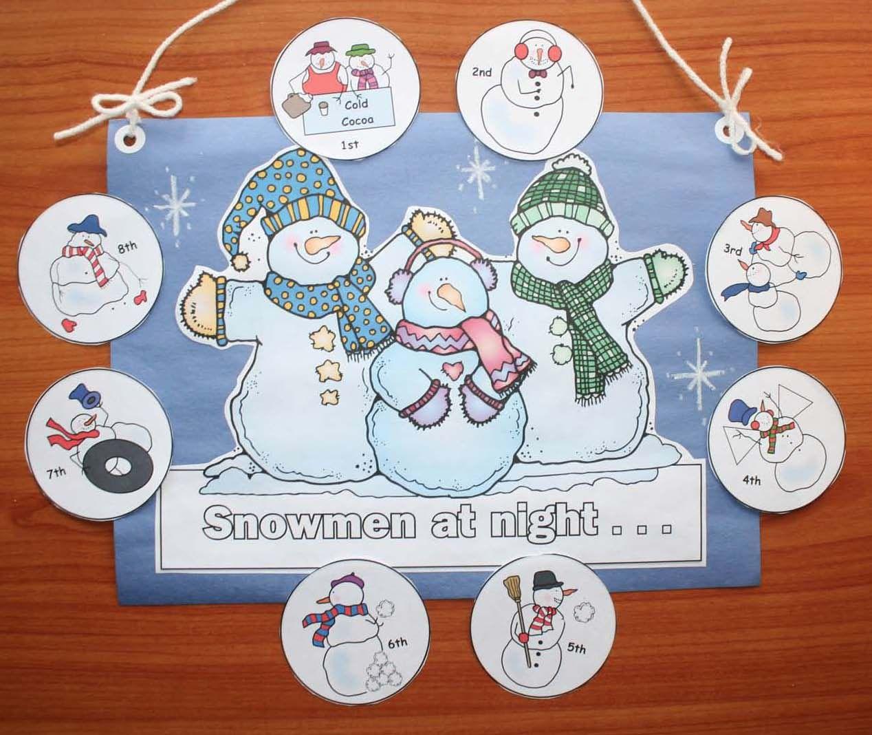 Snowmen At Night Writing Prompt Crafts