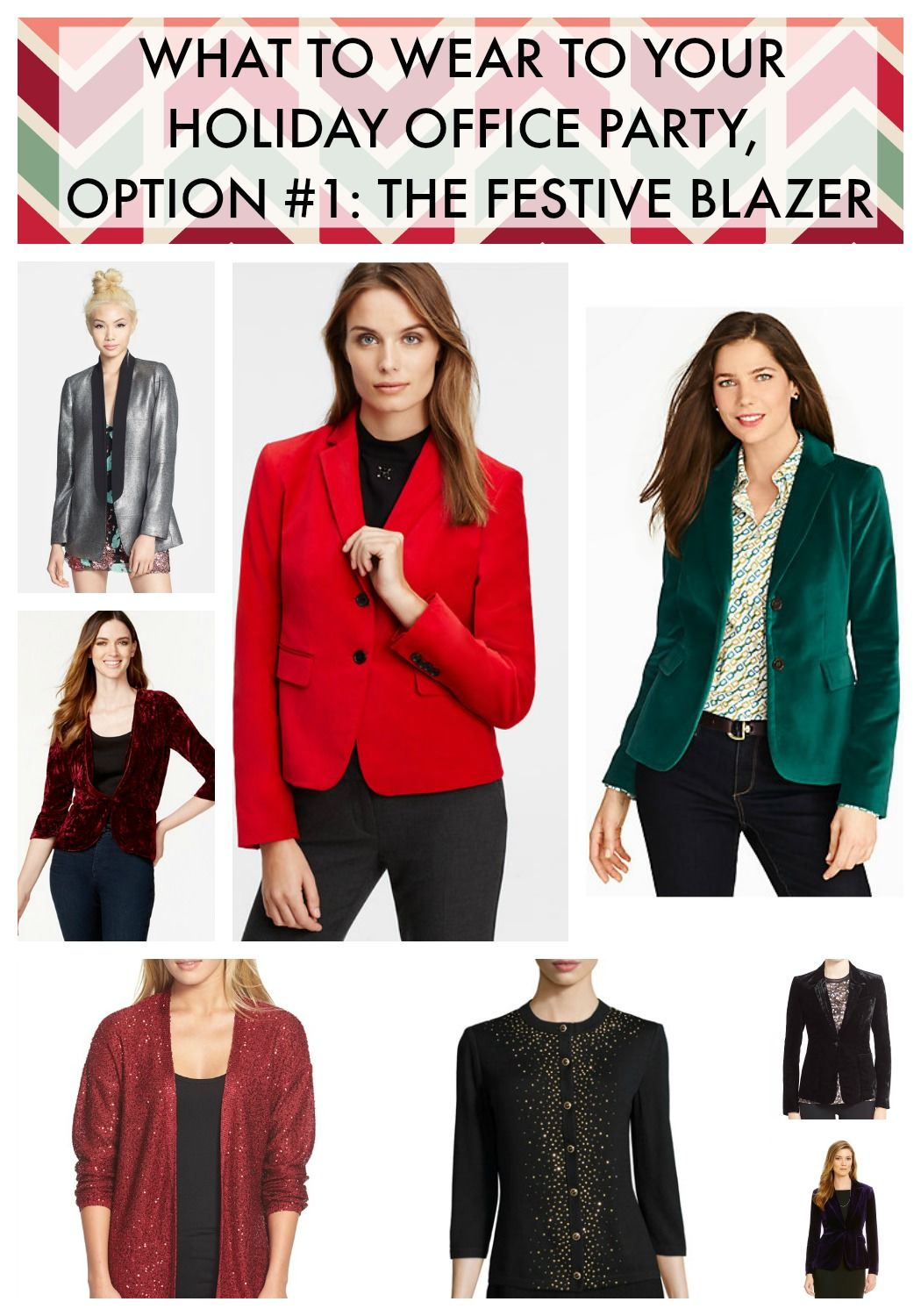 ive always loved a good festive blazer for the holiday office party