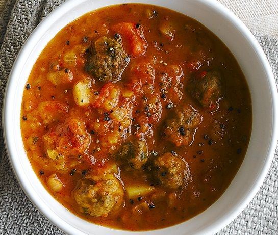 Goulash Soup With Meatballs