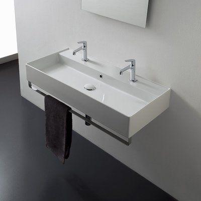 Scarabeo By Nameeks Teorema Ceramic 39 Wall Mount Bathroom Sink