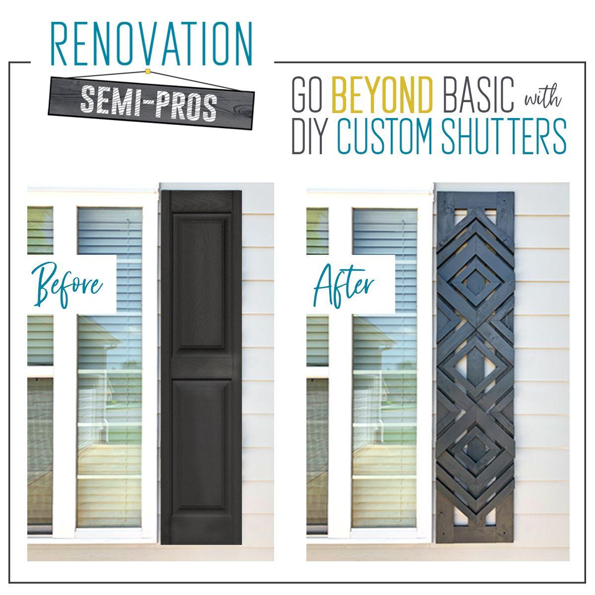 Designer-Inspired DIY Custom Shutters