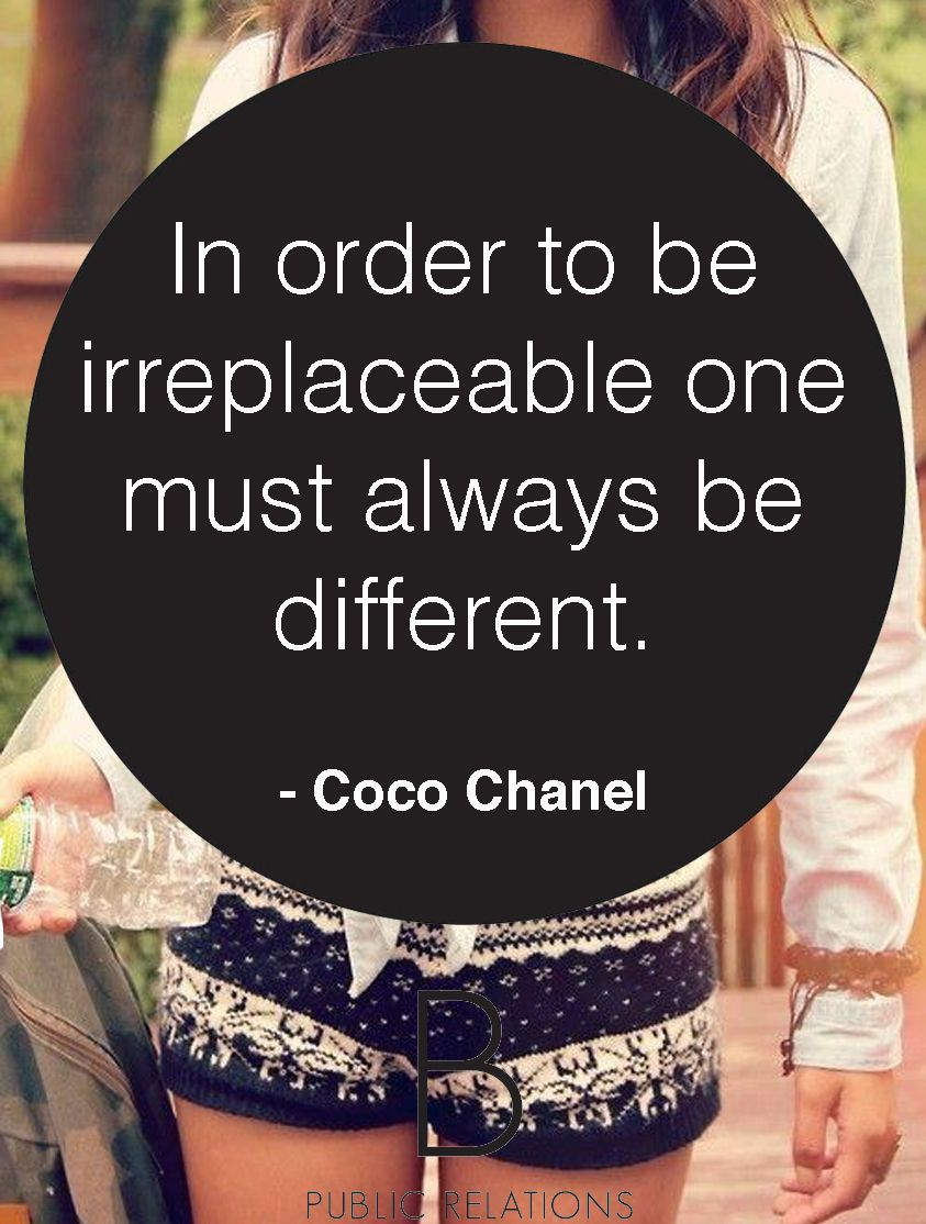 Coco chanel quote on Fashion #bprsocial