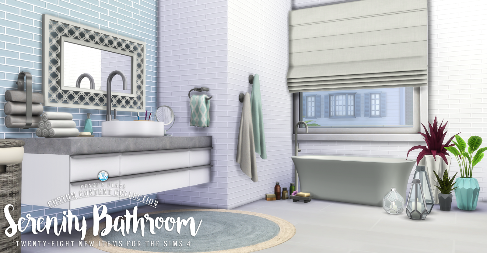 Sarah fernandez the number of bathrooms in a home can really make or break the home's overall functionality for its inhabitants. The Sims 4 | Simsational Designs: Serenity Bathroom Set ...