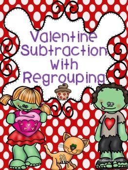 valentine subtraction with regrouping my tpt products math math resources fun math. Black Bedroom Furniture Sets. Home Design Ideas