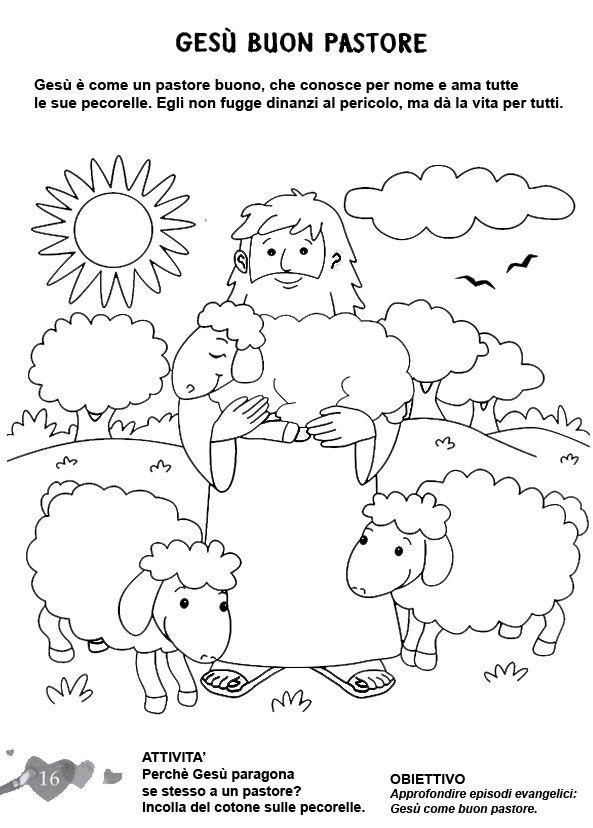 L'ANGOLO: COLORA LA BIBBIA: Ges il buon pastore ...