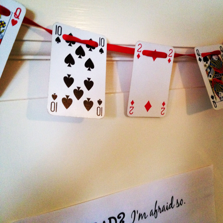 Playing card bunting