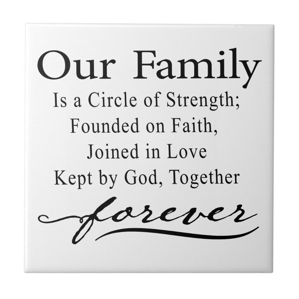 """Family Is Forever Quotes Our Family Quote Tile  Some Are Without """"together Forever"""" At The"""