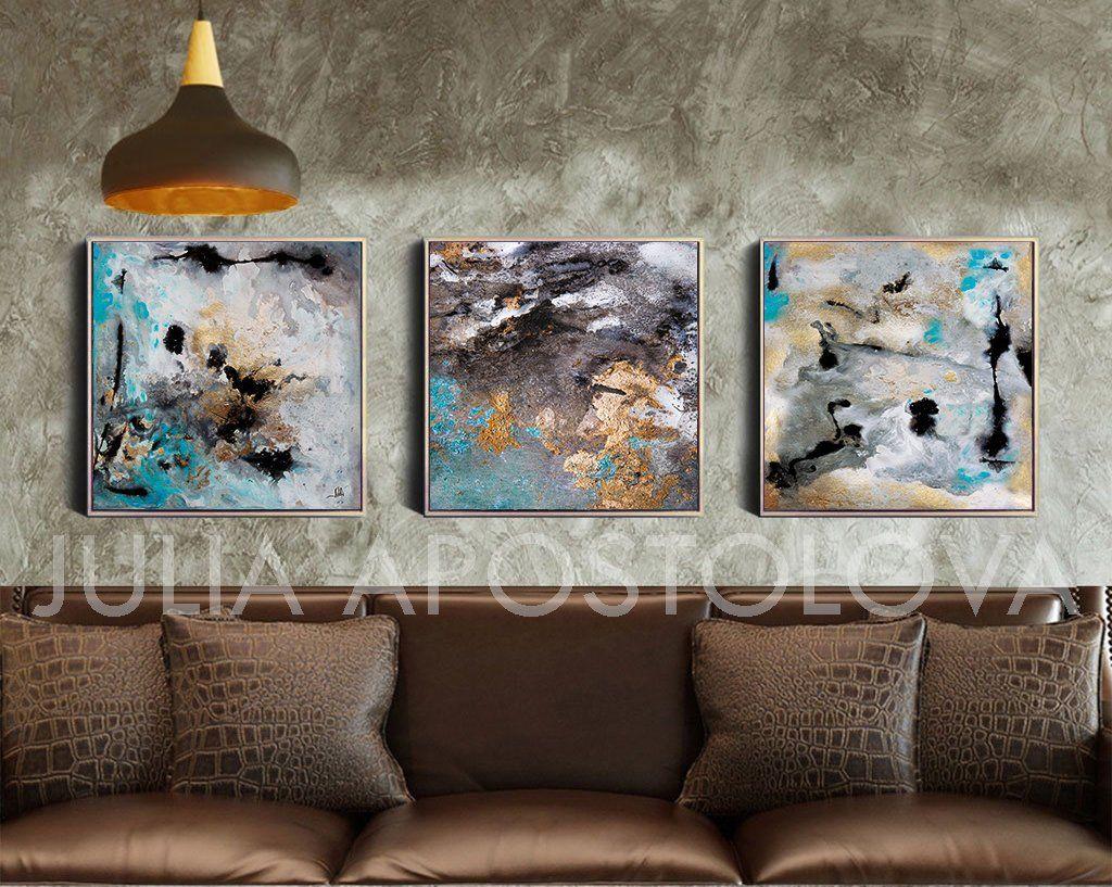 Xinch three piece wall canvas abstract art prints xxl