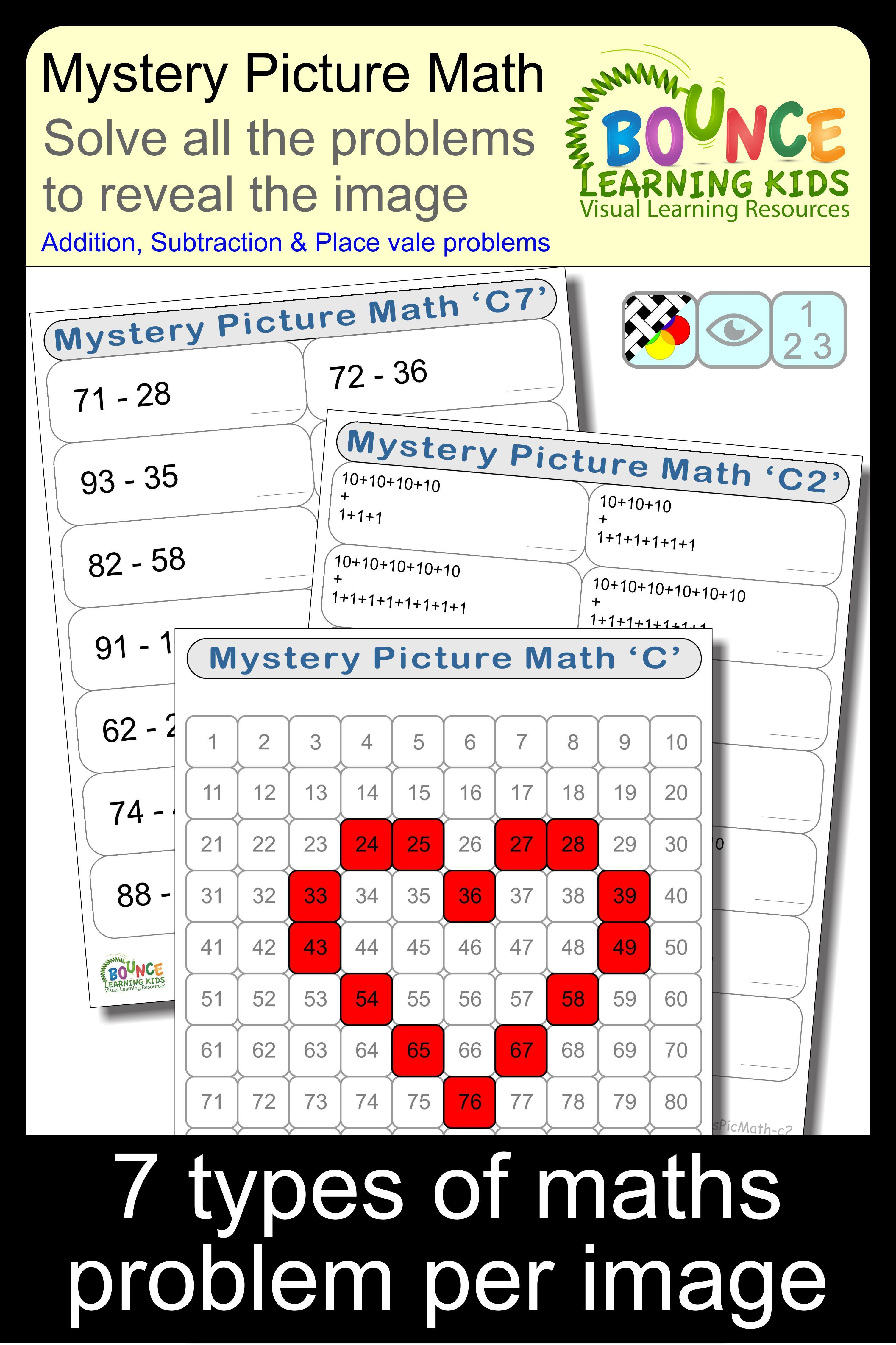 Mystery Picture Math C Distance Learning Worksheets For