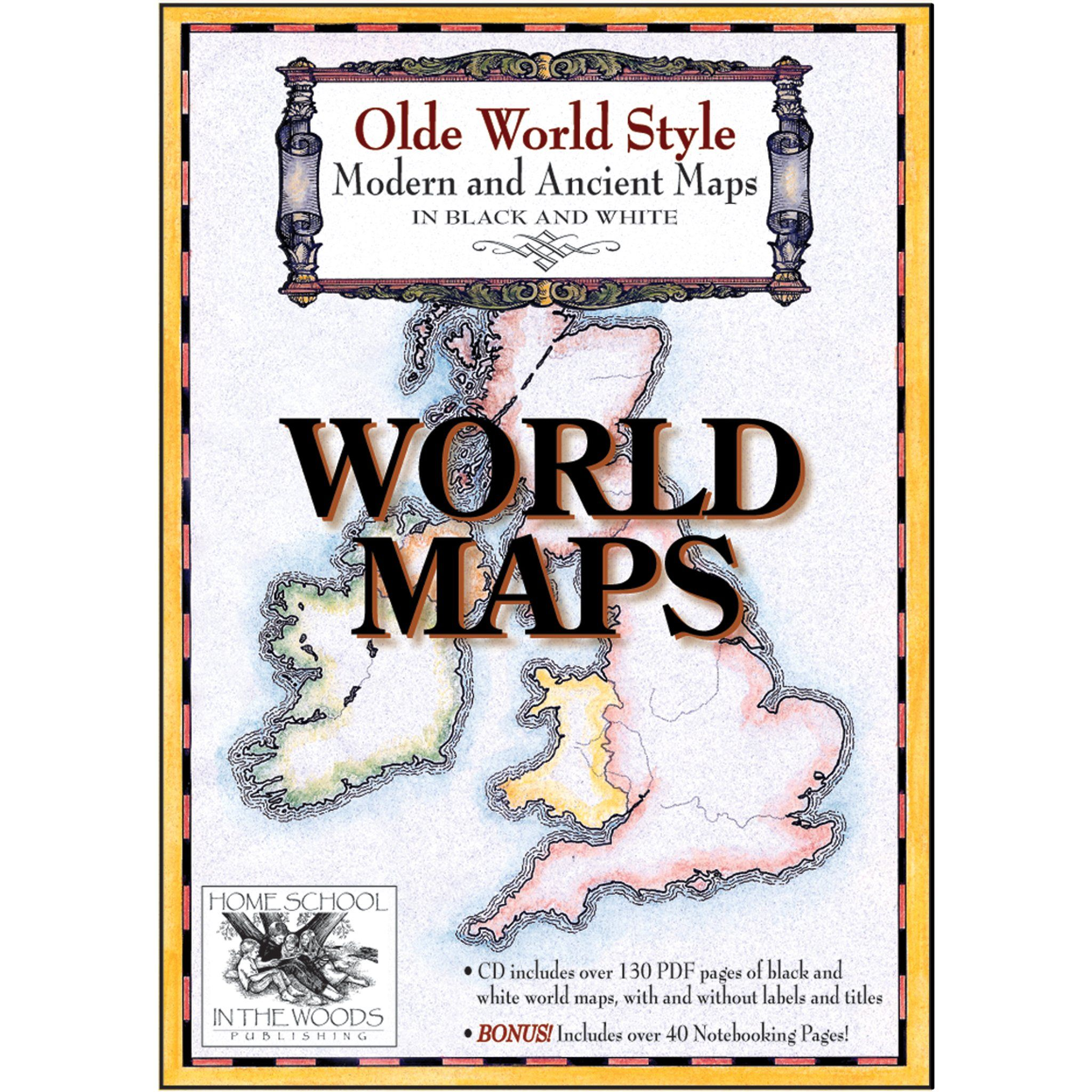 Maps World Maps Home School In The Woods Publishing