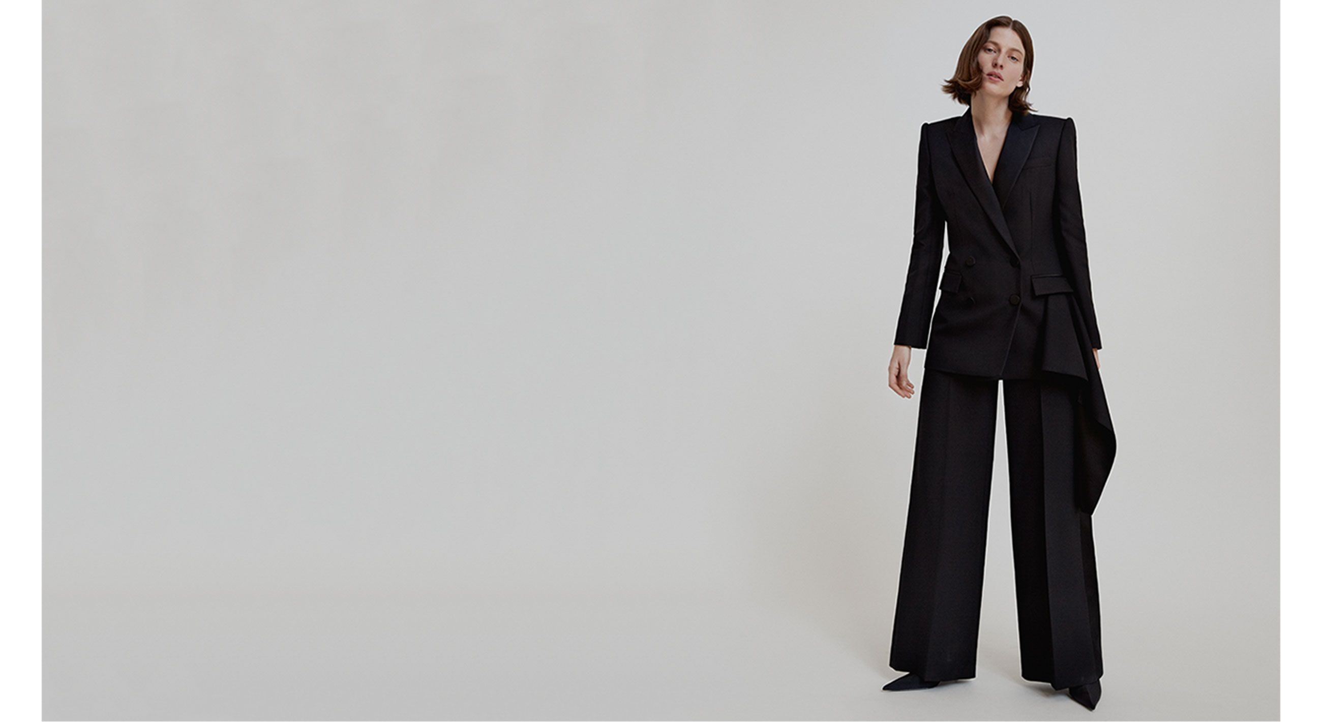 See how key labels have refreshed their greatest hits in our shoot, from smart tailoring by Alexander McQueen to Halpern's sequins and Chloé's new silhouettes.