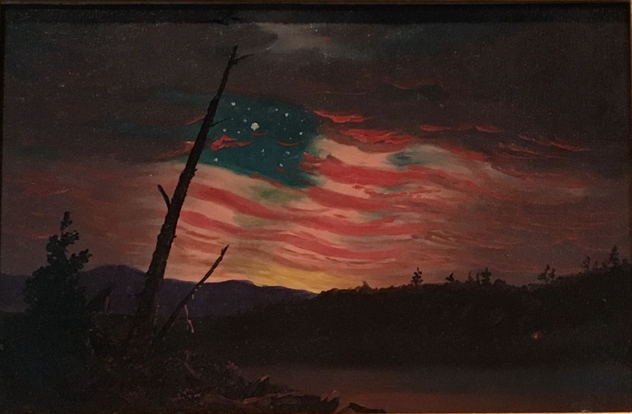 Attributed To Frederic Edwin Church Our Banner In The Sky