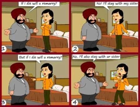 santa rockshusband wife meme india santa jokes funny husband wife jokes comedy sardar