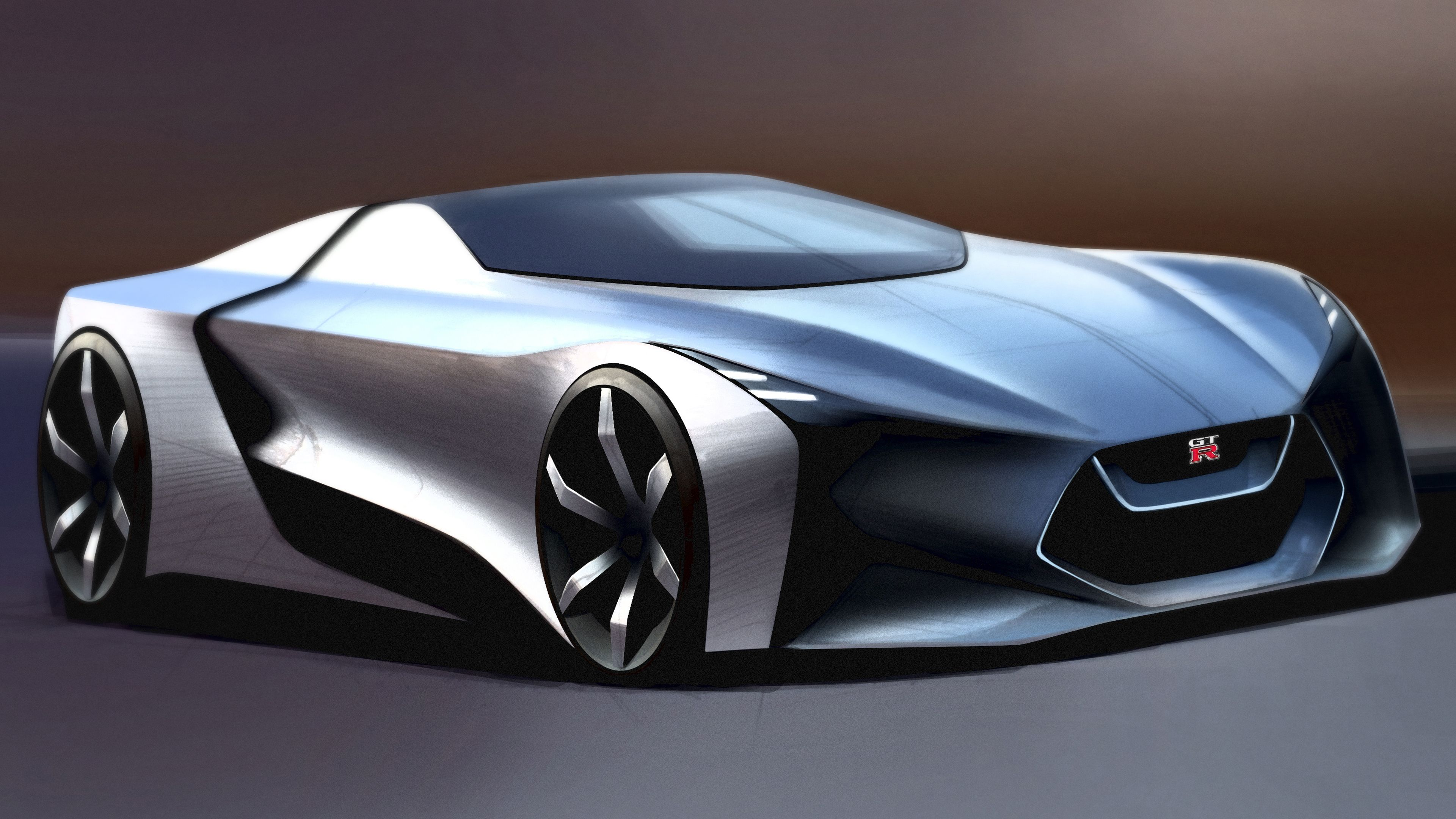 This A Reinterpretation Of The Nissan Gtr How Would It Look In 2025 Supercar Design Concept Car Design Futuristic Cars