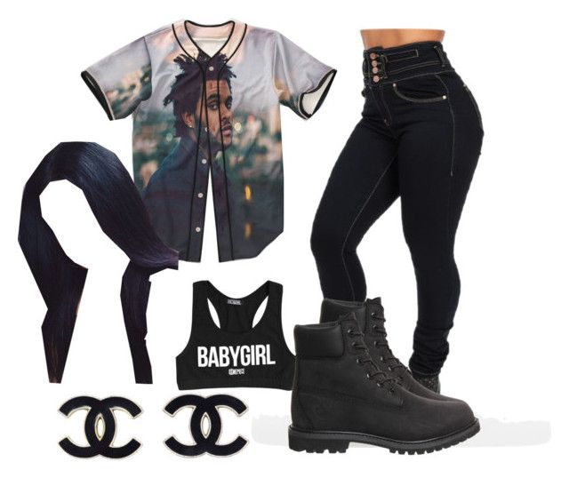 """""""abel"""" by cocochanel0305x ❤ liked on Polyvore featuring moda, Dimepiece, xO Design e Timberland"""