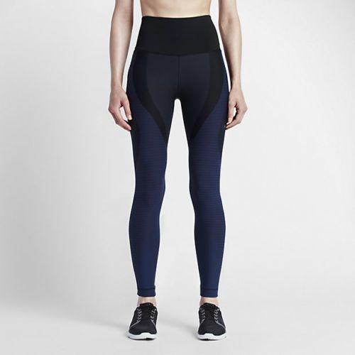 Sz XS Black//Obsidian 810965 010 Nike Womens Zoned Sculpt Training Tights