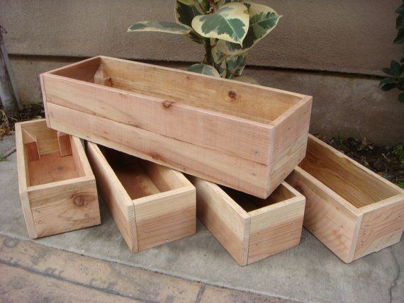 Genial Custom Wood Planters, Table Centerpiece, Flower Boxes, 12 Inch To 60 Inch  Long, 6 Inch Height, Redwood, Garden Planter