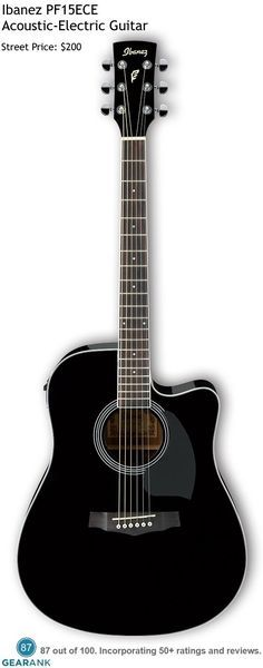 Ibanez Pf15ece This Is One Of The Highest Rated Acoustic Electric Guitars Under 200 For A Detailed Guitar To Ibanez Guitars Yamaha Guitar Acoustic Electric