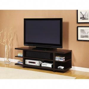 Tv Stand With Shelves Espresso For Flat Panel Tvs Up To 60 169