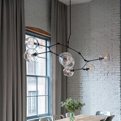8PCS boules de verre branche lustre éclairage Nord