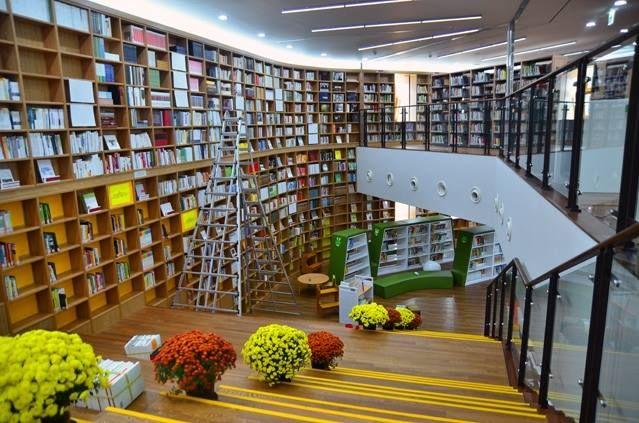 la biblioteca metropolitana de Seül a l'Ajuntament, inaugurat l'any 2012 a Seül, Corea del Sud
