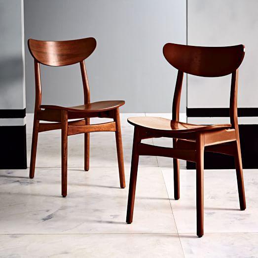 classic caf dining chair walnut west elm