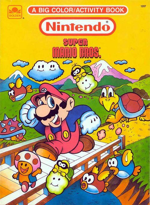 Super Mario Brothers coloring book | Mario bros, Super mario ...