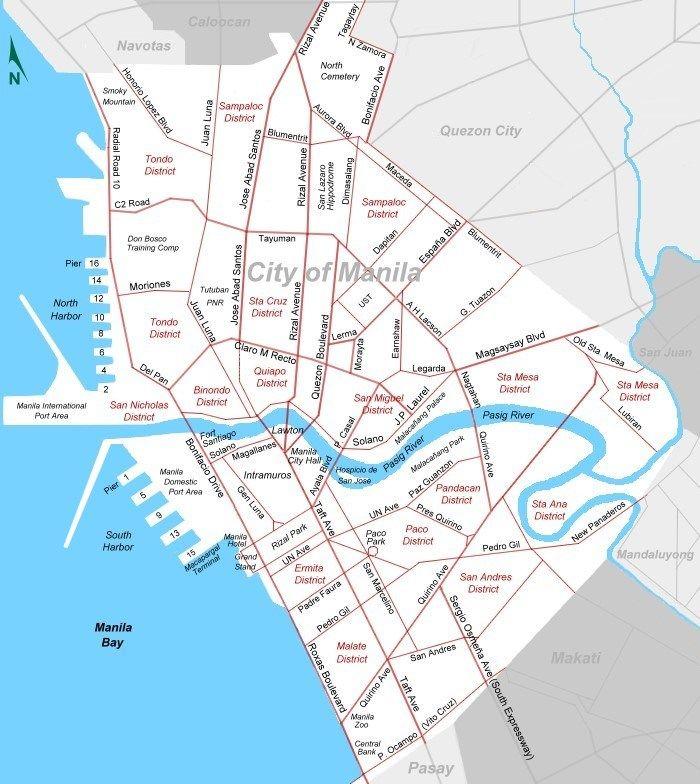 city map of manilajpg 700784 Manila Pinterest City maps
