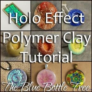 Holo Effect Polymer Clay tutorial. Create glowing color shift hologram effects like dichroic glass with polymer clay. by angelique